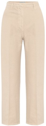 Prada High-rise denim straight pants