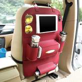 MEGOOD Multi-function PU Leather Vehicle Storage Bag,Car Auto Front or Back Seat Travel Organizer Bag