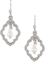 Carolee Icing on the Cake Moroccan Trellis & Faux-Pearl Drop Statement Earrings