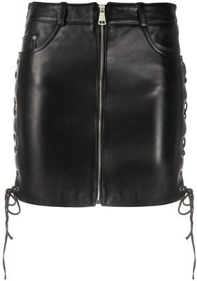 Manokhi Daisy leather mini skirt