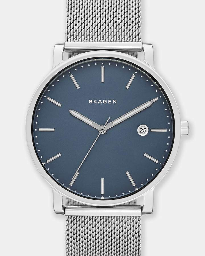 Skagen Hagen Silver-Tone Analogue Watch