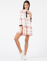 Band Of Outsiders Vintage Red Twill Tape Contrast Shirt Dress