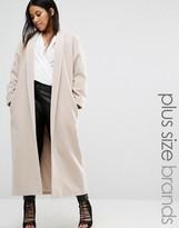 Missguided Plus Shawl Collar Maxi Coat