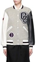 Opening Ceremony OC' leather sleeve classic varsity jacket