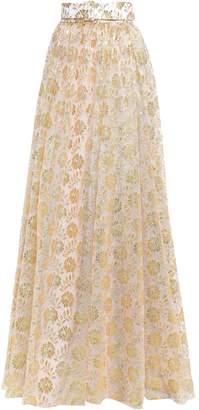 Emilia Wickstead Goldie Metallic Lace Maxi Skirt