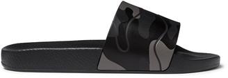 Valentino Garavani Camouflage-Print Rubber Slides