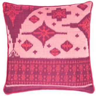 The World In Cushions Anggrek Bulan Pink & Cerise Ikat Cushion