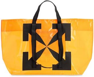 Off-White Printed Arrows Pvc Tote Bag