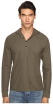 Vince Long Sleeve Hooded Henley Men's Sweatshirt
