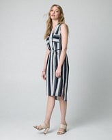 Le Château Stripe Crepe de Chine Shirtdress