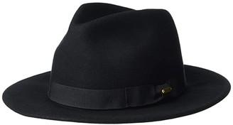 San Diego Hat Company WFH8039 Felt Fedora Hat (Black) Fedora Hats
