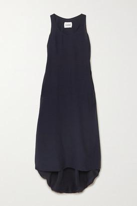 Jil Sander Masie Cady Maxi Dress - Navy