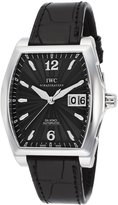 IWC Iw452312 Men's Da Vinci Auto Black Genuine Leather And Dial Ss Watch
