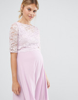 Queen Bee Lace Overlay Midi Swing Dress