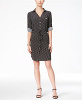 Tommy Hilfiger Printed Drawstring Shirtdress