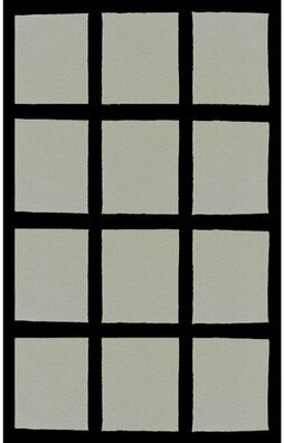 """American Home Rug Co. Bright Window Blocks Hand-Tufted Gray Area Rug Rug Size: 3'6"""" x 5'6"""""""