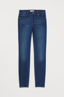 H&M Skinny Fit Pants - Blue