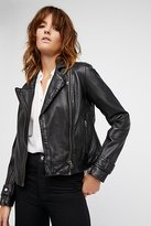 Free People Washed Leather Moto Jacket