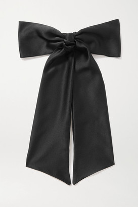 Sophie Buhai Oversized Silk-satin Hair Clip - Black