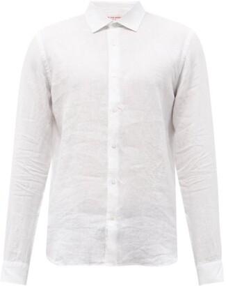 Orlebar Brown Giles Linen Shirt - Mens - White