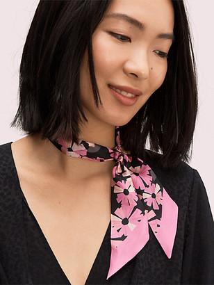 Kate Spade Floral Skinny Scarf