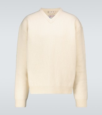 Marni V-neck wool sweater