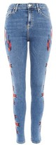 Topshop MOTO Embroidered Jamie Jeans