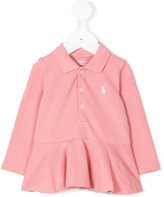 Ralph Lauren peplum hem polo shirt - kids - Cotton - 3 mth