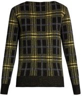 Tomas Maier Plaid wool and cashmere-blend sweater
