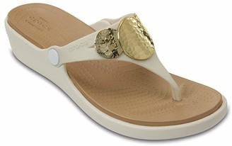 Crocs Women's Sanrah Embellished Wedge Flip