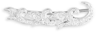Sara Weinstock French Tulip 18K White Gold Diamond Single Crawler Earring