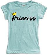 Urban Smalls Light Aqua 'Princess' Fitted Tee - Toddler & Girls