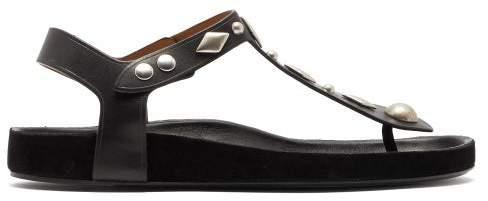 Black Enorie Sandals Studded Leather Womens Yg7bfyv6