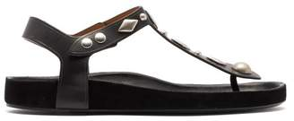 Isabel Marant Enorie Studded Leather Sandals - Womens - Black