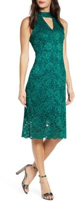 Sam Edelman Keyhole Lace Sheath Dress
