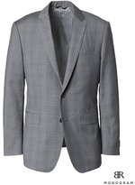Banana Republic Standard Monogram Gray Plaid Italian Wool Suit Jacket