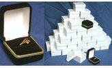 FindingKing Black Velvet Ring Jewelry Gift Boxes 48