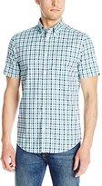 Ben Sherman Men's Short Sleeve House Gingham Button Down Shirt