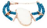 Meira T 14K Rose Gold, Druzy, Apatite & 0.25 Total Ct. Diamond Bracelet