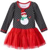 Nannette Girls 4-6x Snowman Applique Tutu Dress