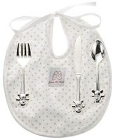 English Trousseau Cutlery and Bib Set (Beige)
