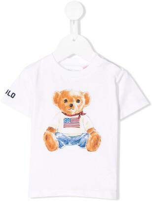 Ralph Lauren Kids teddy bear print T-shirt