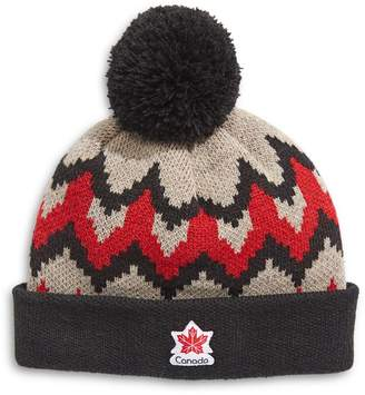 Canadian Paralympic Team Collection Youth's Fair Isle Pom-Pom Tuque