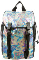 Lanvin Glossy Leather-Trimmed Backpack