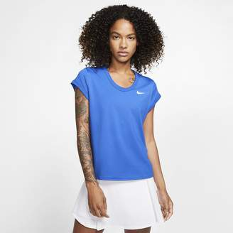 Nike Women's Short-Sleeve Tennis Top NikeCourt Dri-FIT
