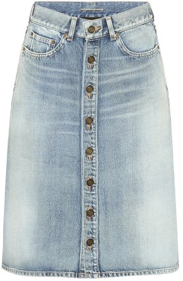 Saint Laurent Denim midi skirt