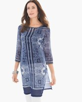 Chico's Mirrored Scrolls Tunic