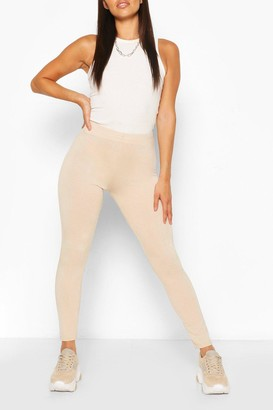 boohoo Petite High Waisted Basic Jersey Leggings