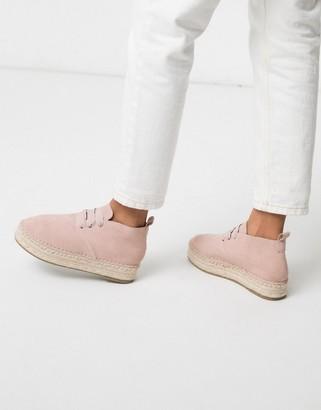 Asos DESIGN Jefferson espadrille desert boots in sand