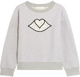 See by Chloe Appliquéd Cotton-jersey Sweatshirt - Light gray